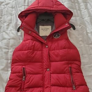 A&F puffy vest